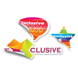 Stickers adesivi in pvc